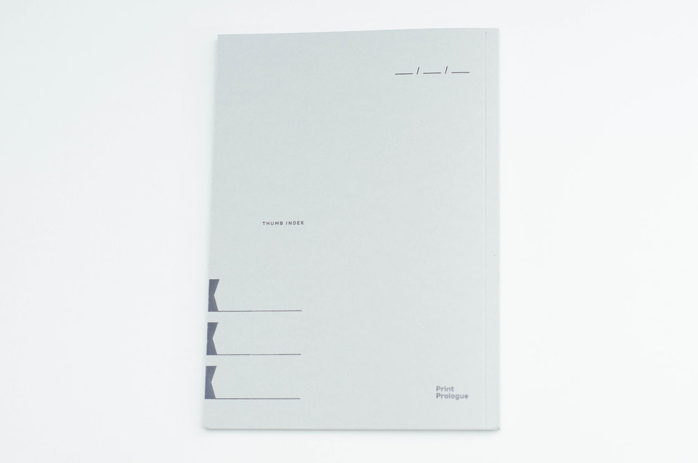 Print Prologue Notebook Back