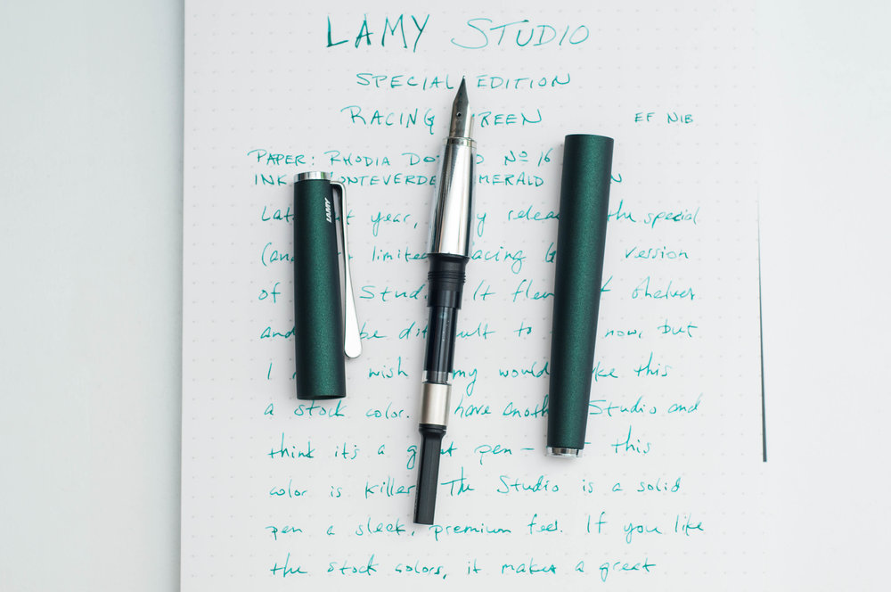 Lamy Studio Racing Green Barrel