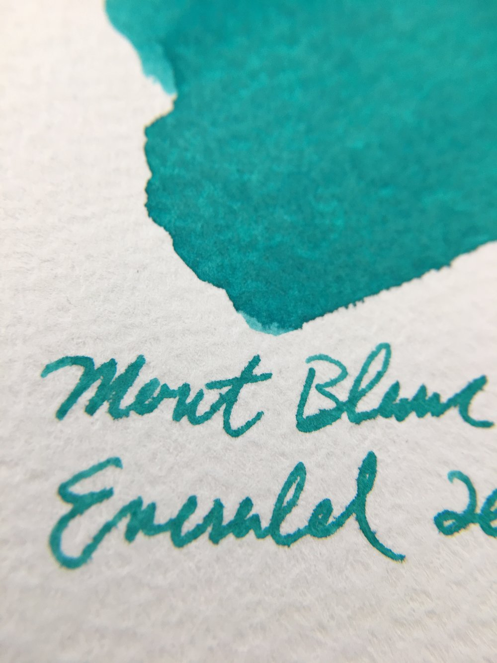 Montblanc Emerald Green Ink Sample