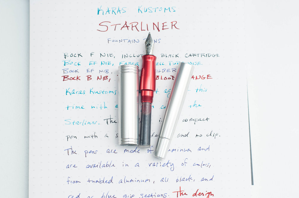 Karas Kustoms Starliner Fountain Pen Open