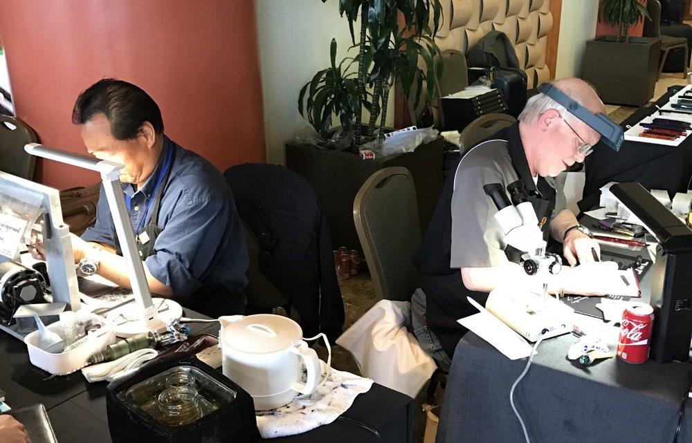 Masters at work: Mike Masuyama (L) and Jim Rouse