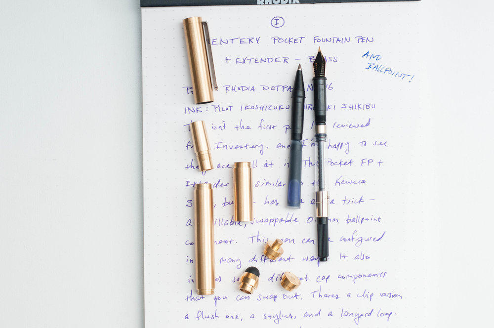 Inventery Pocket Fountain Pen Parts