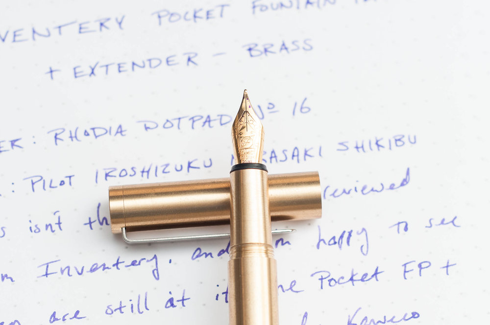 Inventery Pocket Fountain Pen Nib