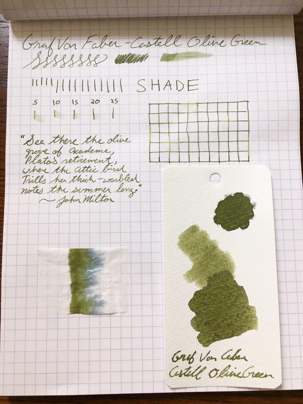 Graf von Faber-Castell Olive Green Ink