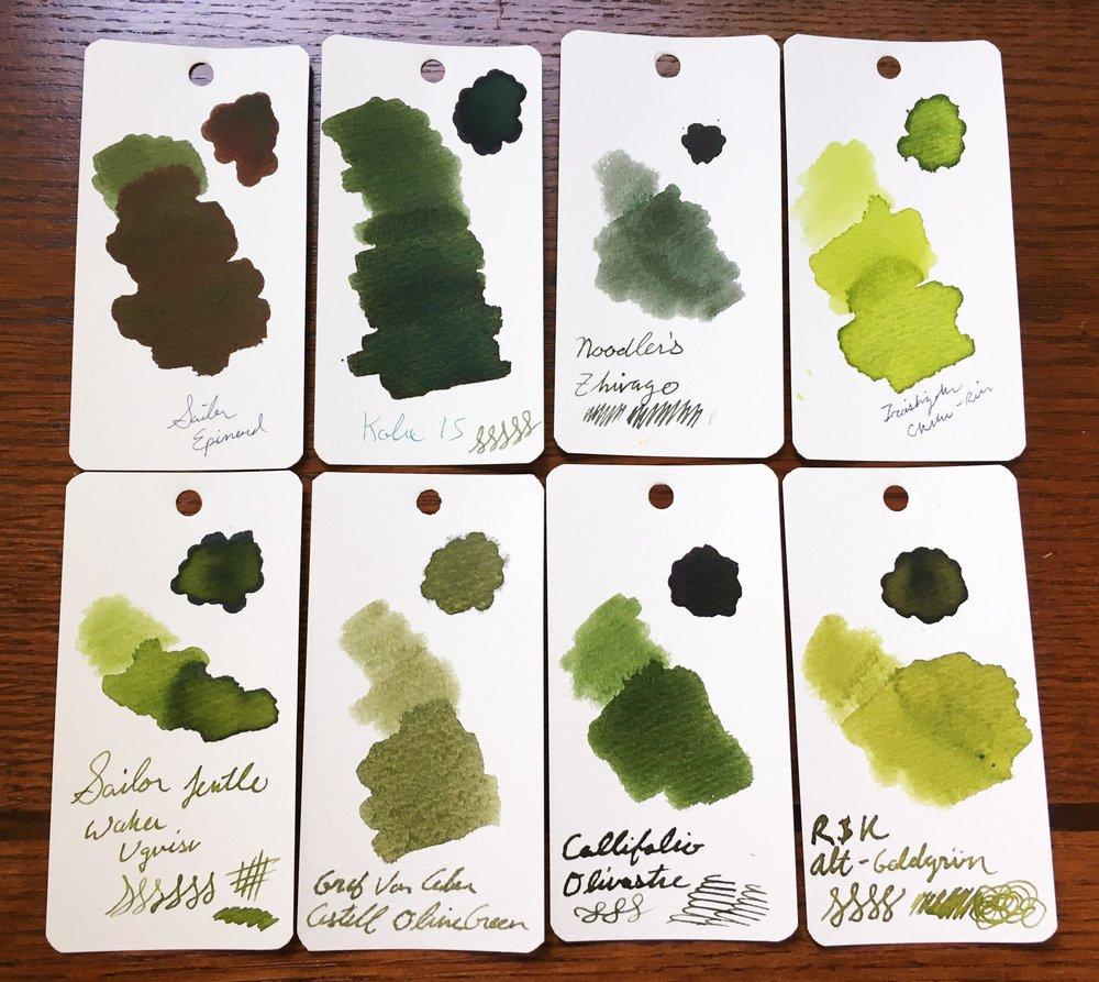 Graf von Faber-Castell Olive Green Ink Sample