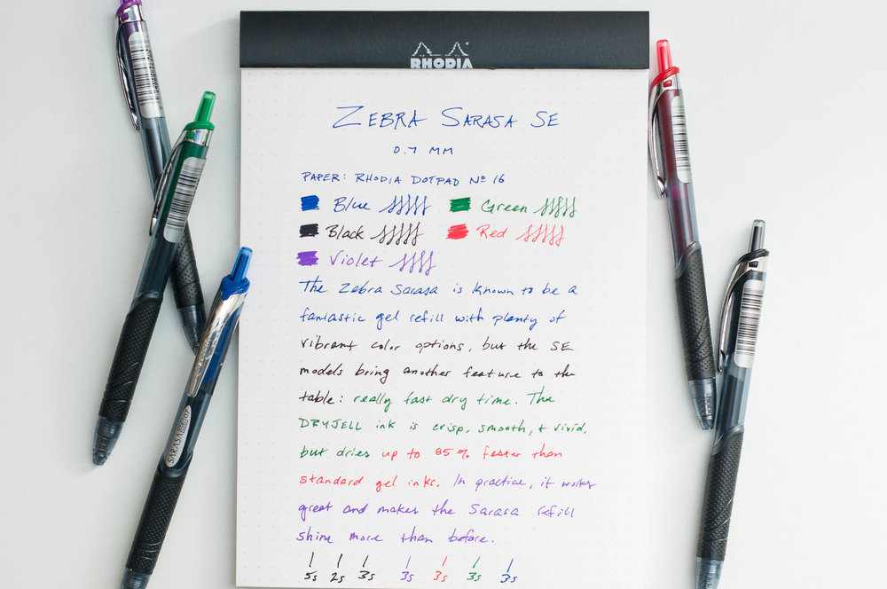 Zebra Sarasa SE Gel Pen Review