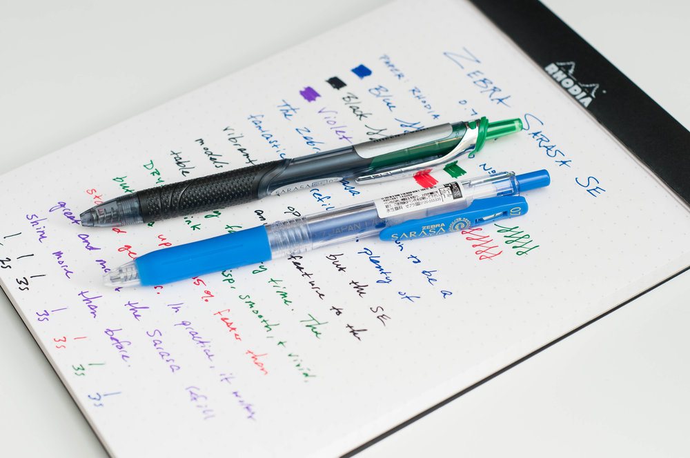 Zebra Sarasa SE Gel Pen vs Sarasa Clip