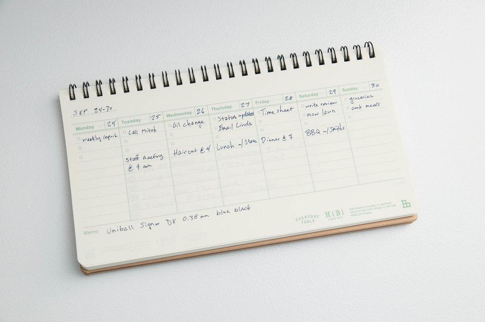 HiBi Weekly Notebook Writing