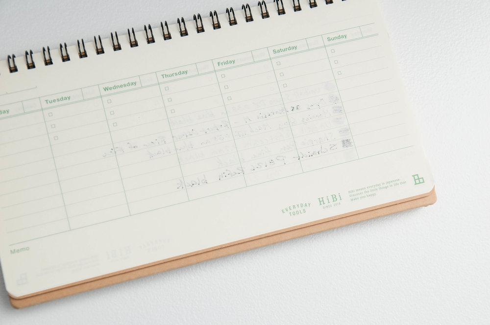 HiBi Weekly Notebook Show through