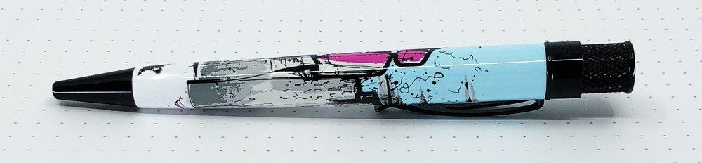 Pen Addict Retro 51 Pink Robots Side 2