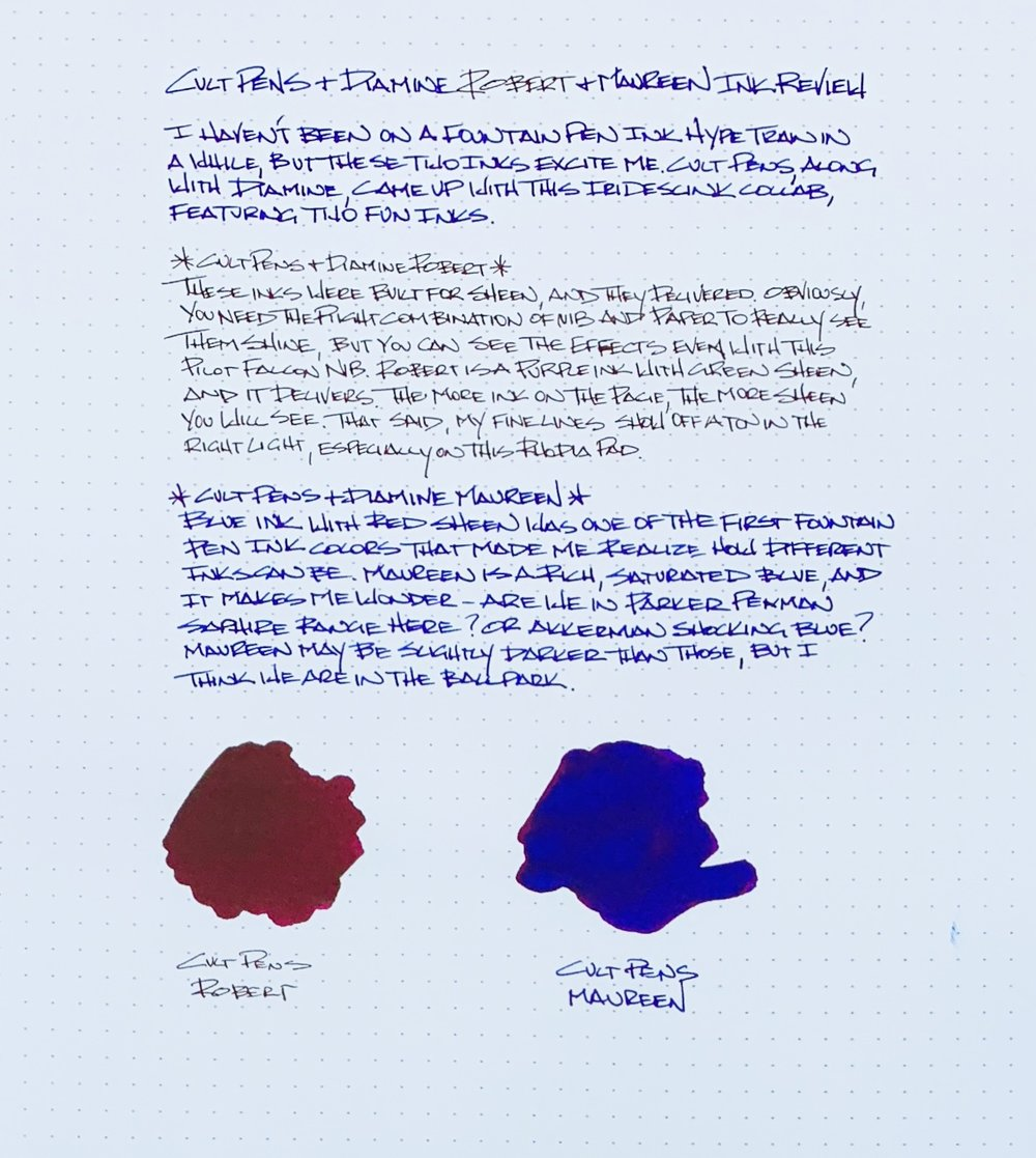 Cult Pens Diamine Maureen and Robert Review