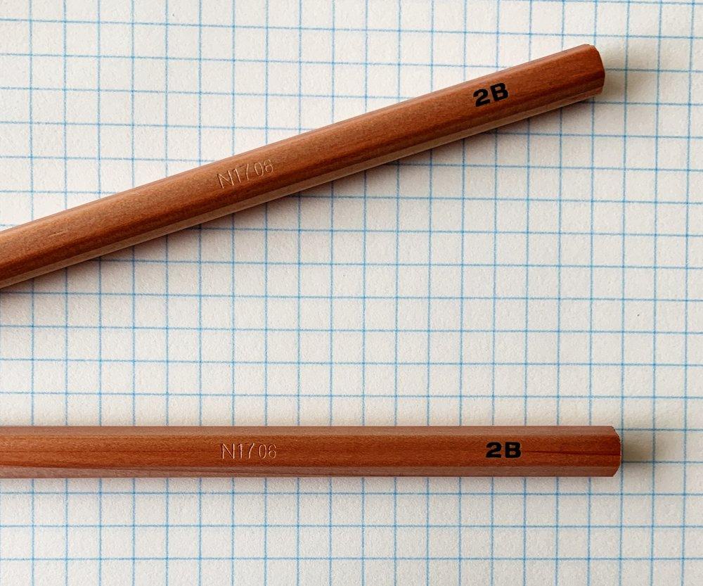 Muji 2B Pencil Barrel Stamp