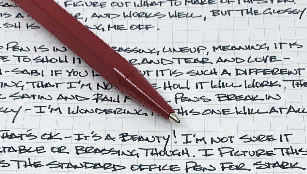 ystudio Portable Brassing Ballpoint Pen Writing