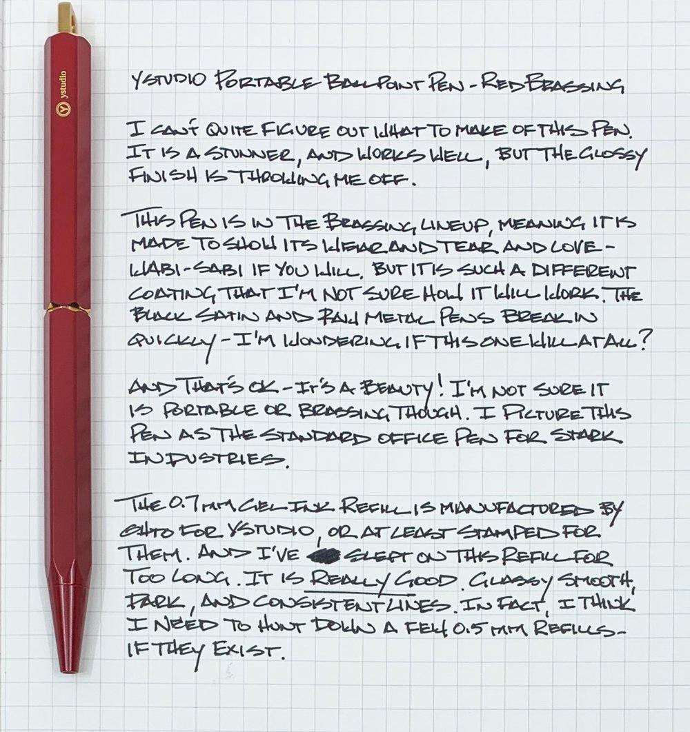 ystudio Portable Brassing Ballpoint Writing