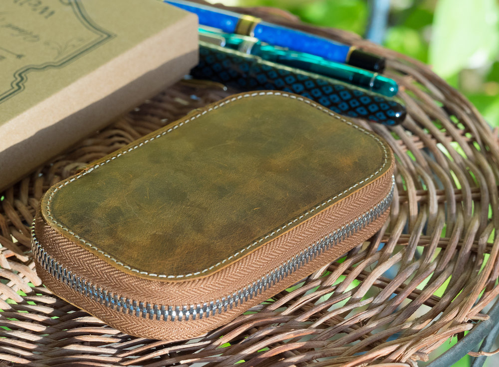 Galen Leather Six Pen Case in Crazy Horse Brown: A Review