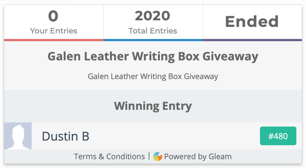 Galen Leather Writing Box Giveaway