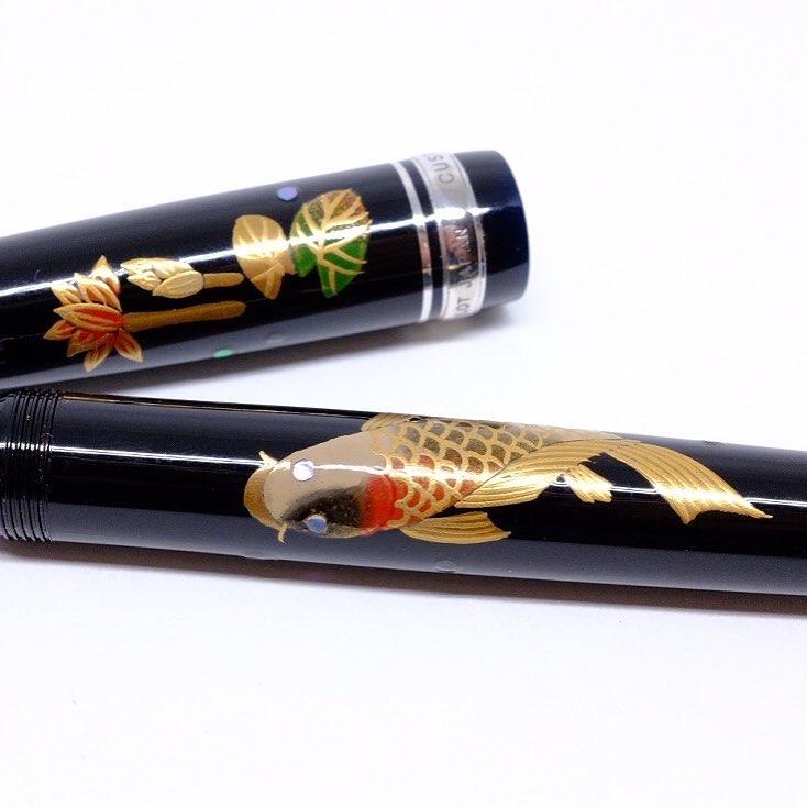 The infamous Mango Pen, Pilot Custom 912 with custom maki-e artwork.