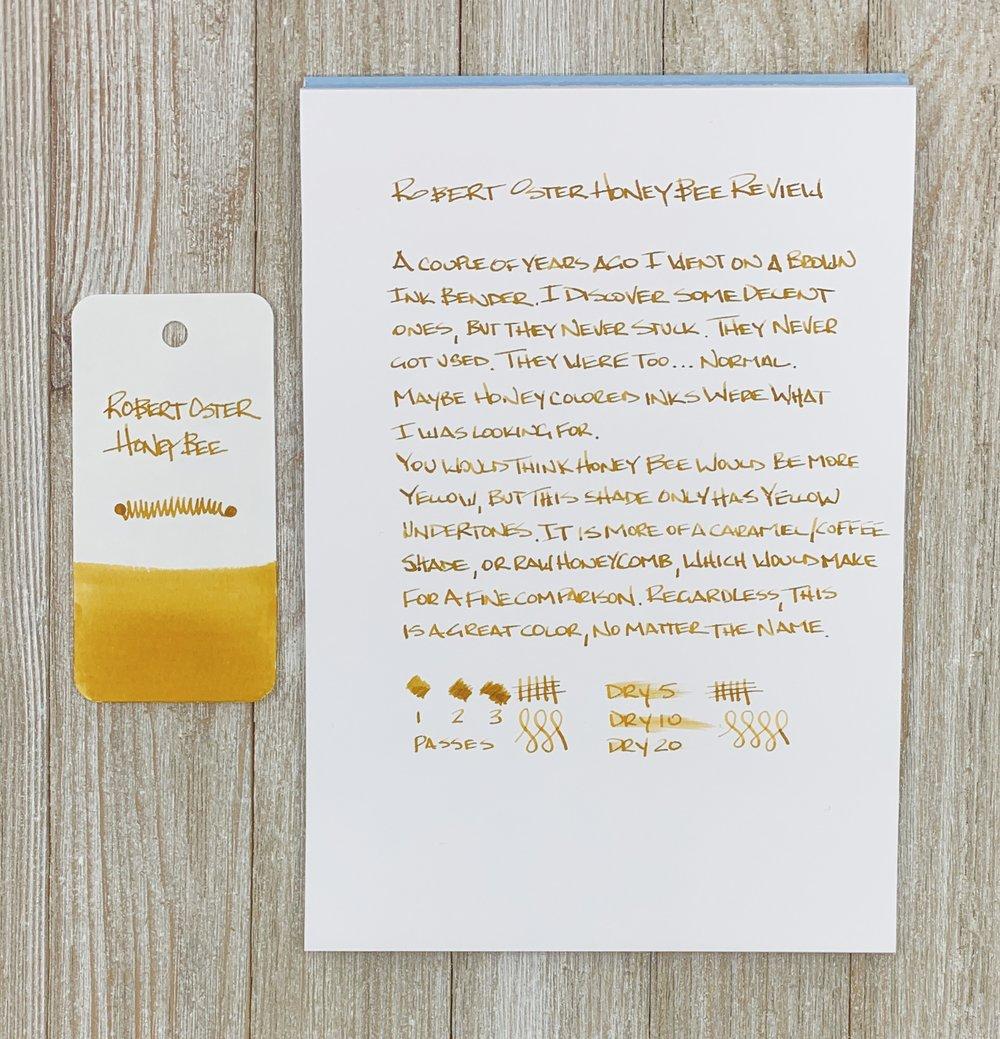 Robert Oster Honey Bee Ink Writing