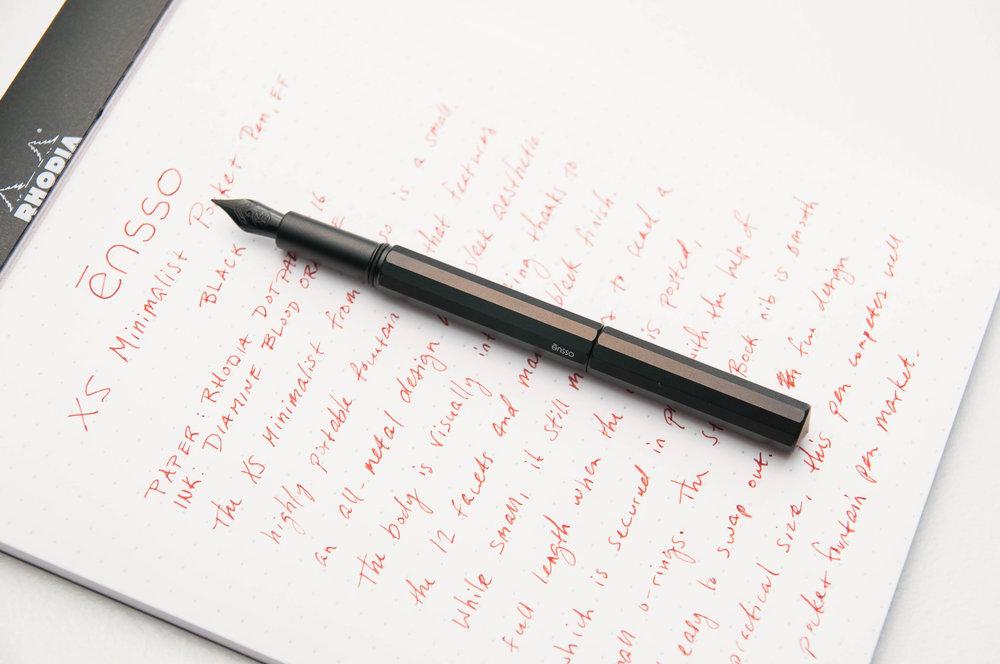 ensso XS Minimalist Pocket Fountain Pen Barrel