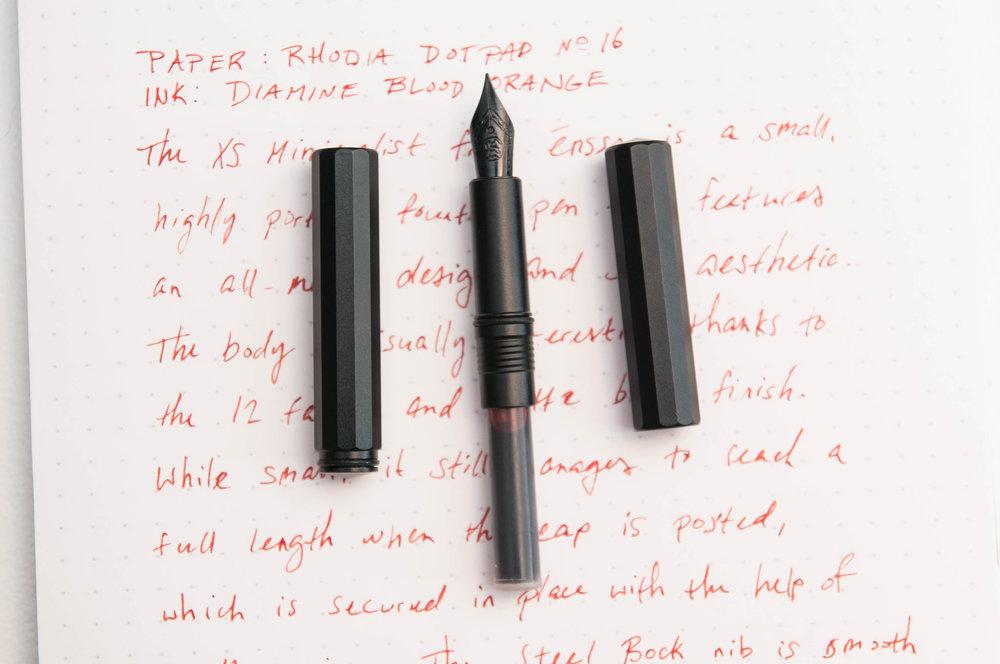 ensso XS Minimalist Pocket Fountain Pen open