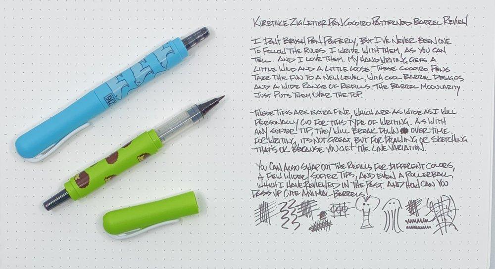 Kokuyo Zig Cocoiro Extra Fine Letter Pen Writing