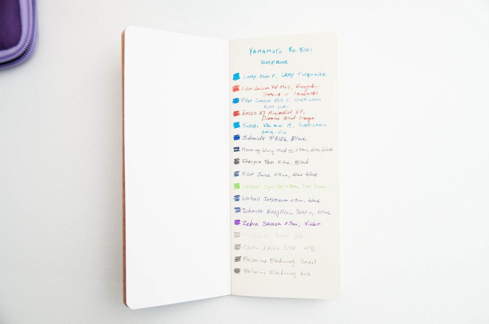Yamamoto Ro-Biki Reticle Notebook Writing