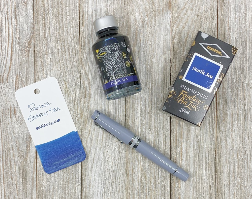 Diamine Starlit Sea Shimmering Ink Review
