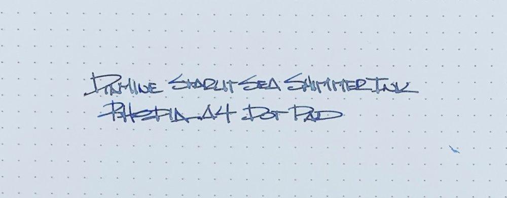 Diamine Starlit Sea Shimmering Ink Rhodia