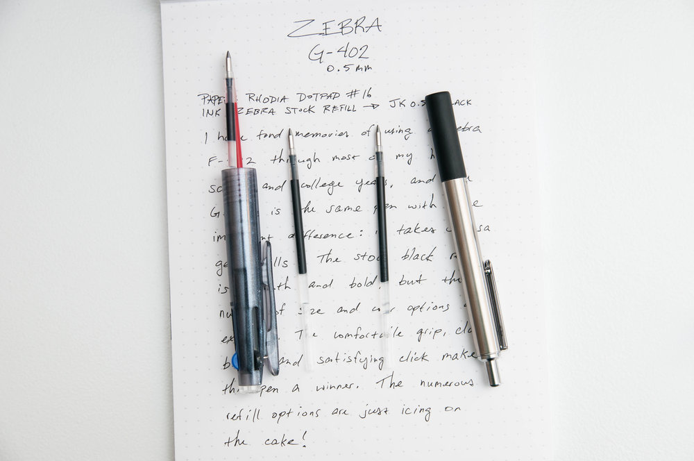 Zebra G-402 0.5mm Gel Pen Refills