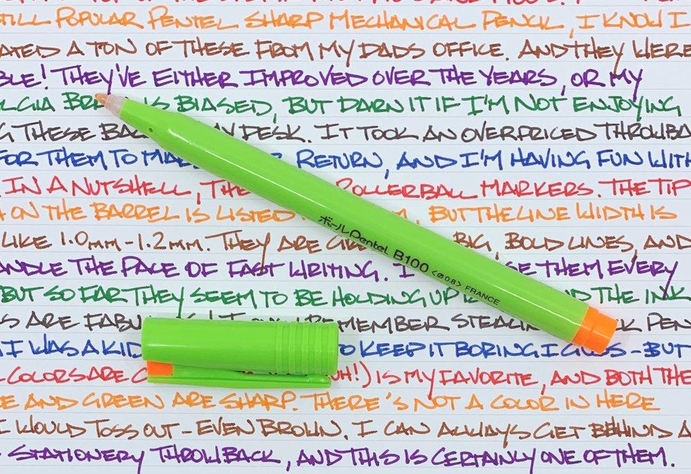 Pentel B100 45th Anniversary Orange Pen