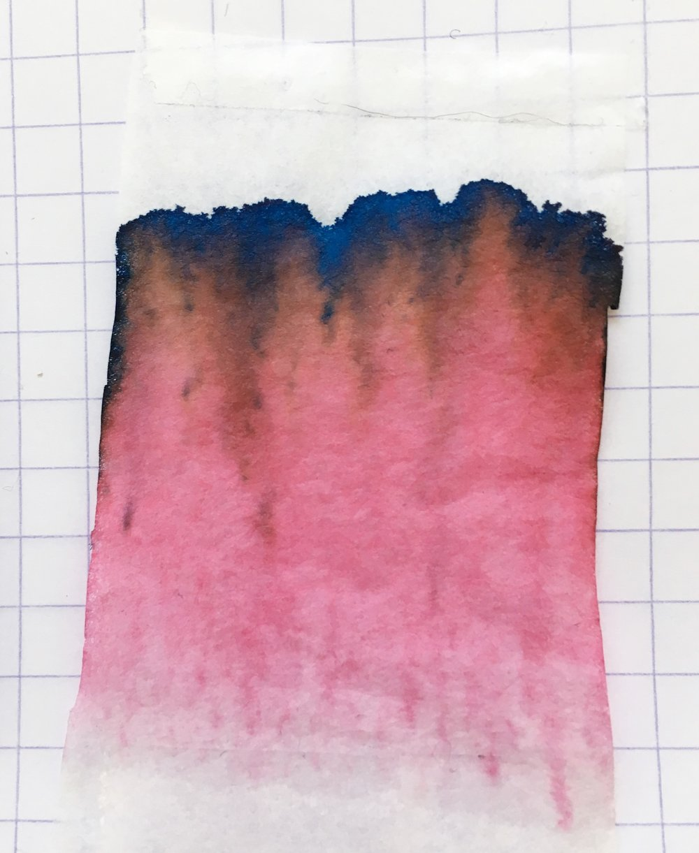 Robert Oster Thunderstorm Ink Chromatography