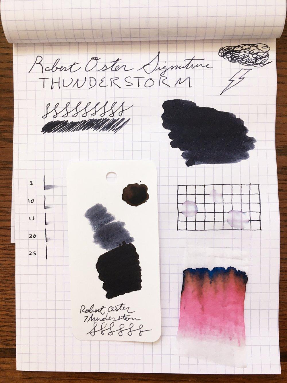 Robert Oster Thunderstorm Ink Test