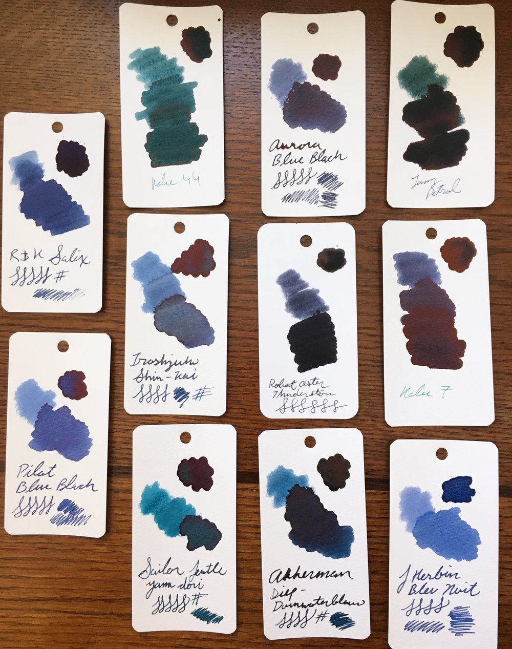 Robert Oster Thunderstorm Ink Comparison
