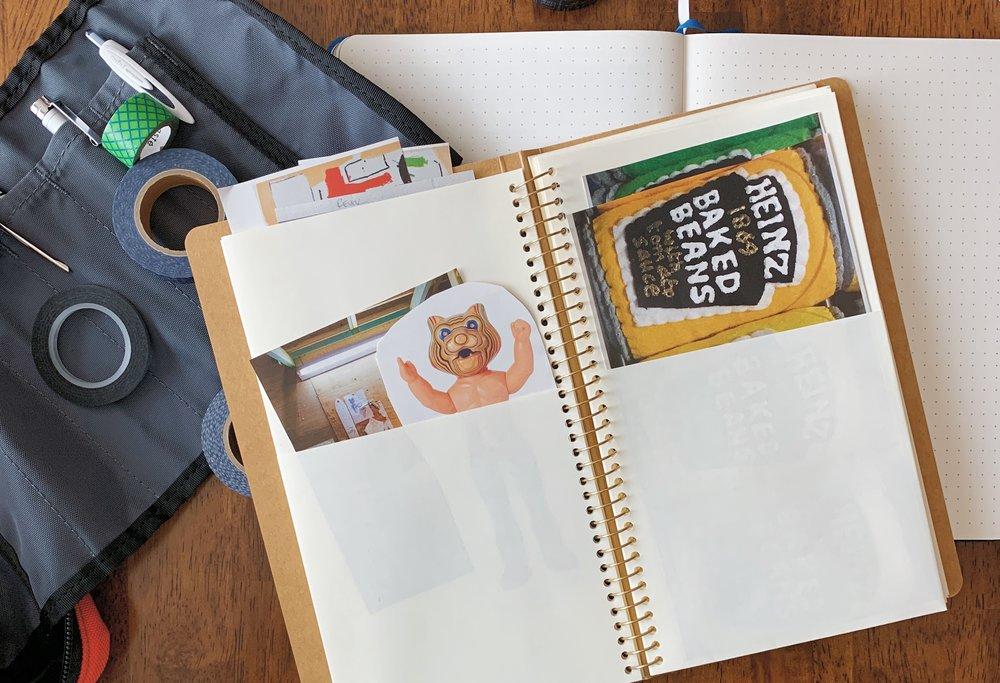 Traveler's Company Spiral Ring A5 Slim Paper Pocket Notebook Folder