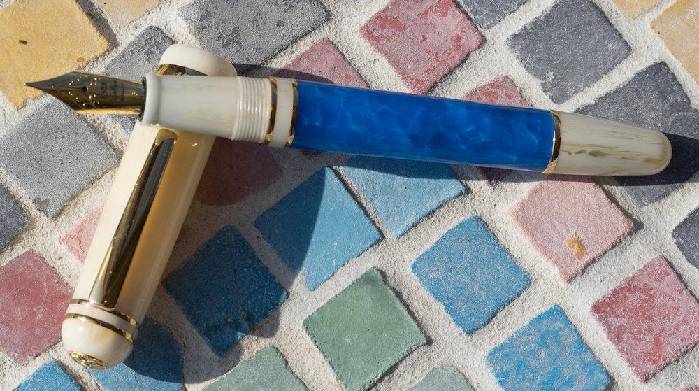 Laban Ocean Blue Fountain Pen Pen Uncapped