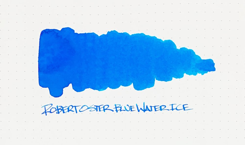 Robert Oster Blue Water Ice Ink Review