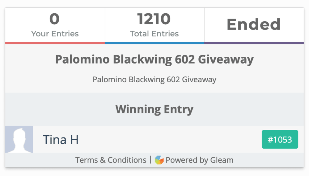 Blackwing 602 Winner