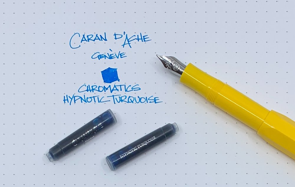 Caran d'Ache Chromatics Hypnotic Turquoise Ink