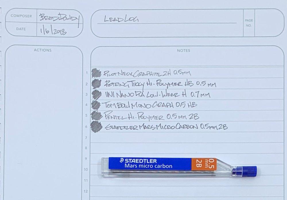 Staedtler Mars Micro Carbon 0.5 mm 2B Pencil Lead
