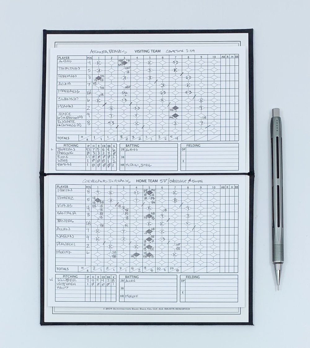 Baseball Scoring Notebook