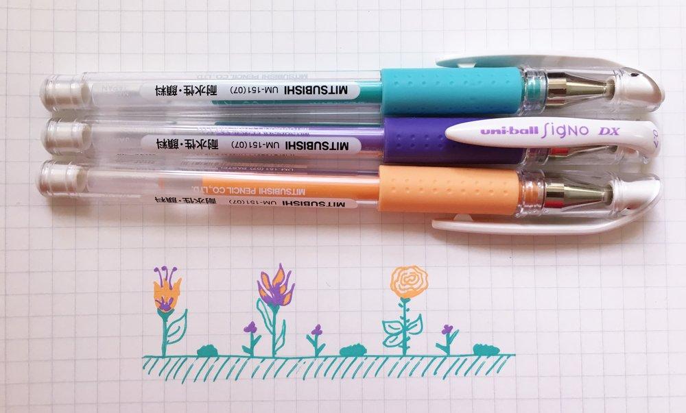Uni-ball Signo DX Pastel Gel Pen Review