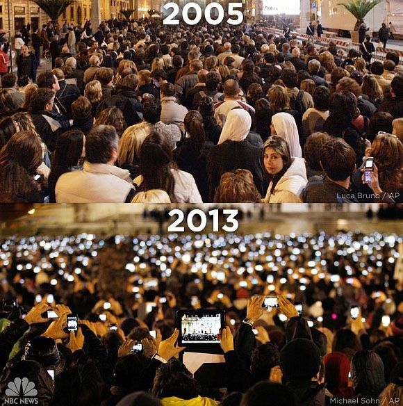 Pope Benedict's Unveiling 2005 vs. Pope Francis' Unveiling 2013