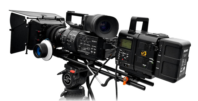 Sony FS700 with optional AXS-R5 Recoder and HXR-IFR5