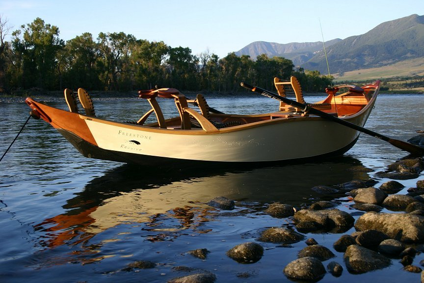 Recurve style cajune boatbuilding for Drift boat fishing