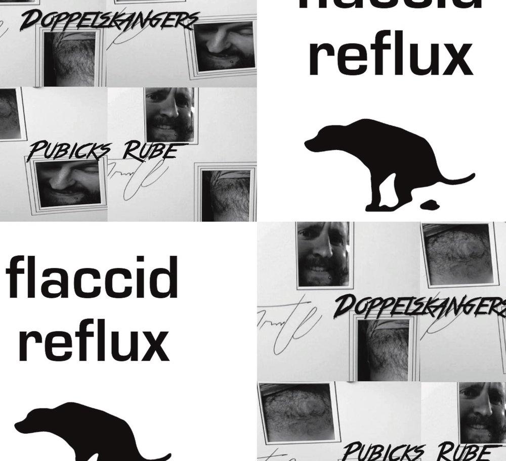 Doppelskangers/Flaccid Reflux split LP by Doppelskanger/Flaccid Reflux