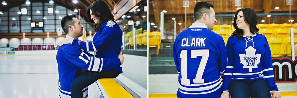 Toronto Wedding Photographer | Hockey Theme Engagement |