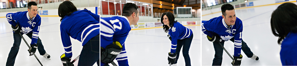 Toronto Wedding Photographer | Romantic Hockey Engagement