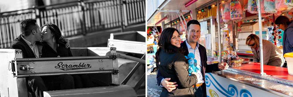 Toronto Wedding Photographer Fun Carnival Engagement