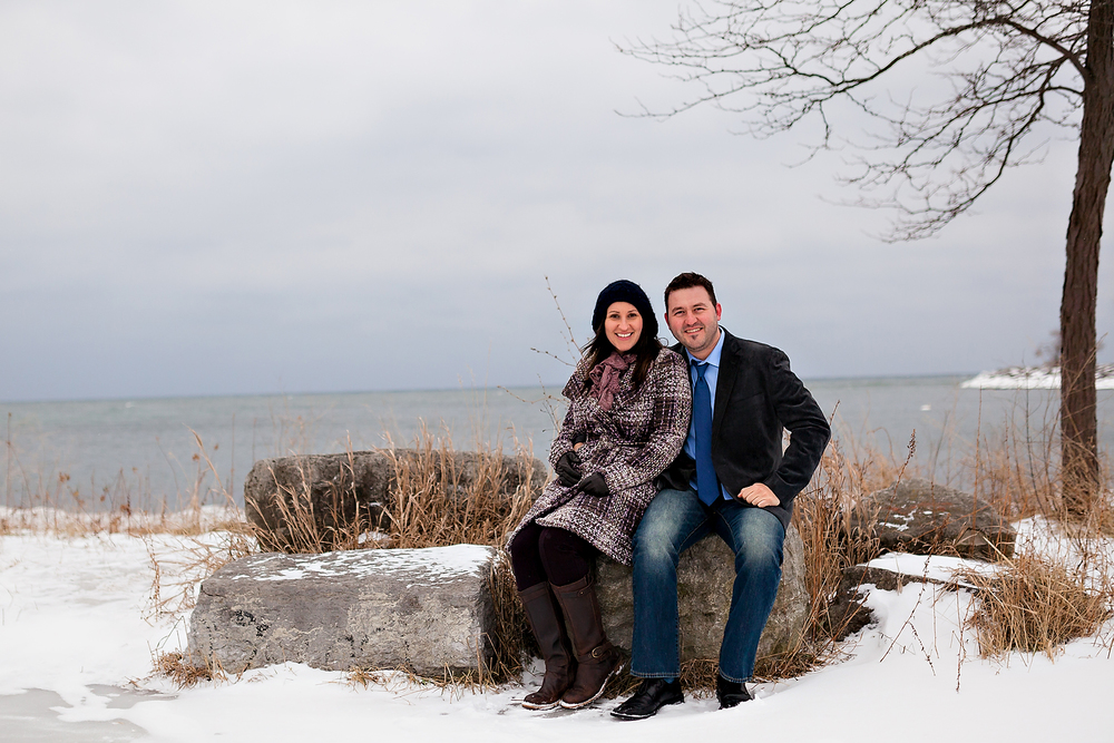 Toronto Winter Engagement Lake Ontario