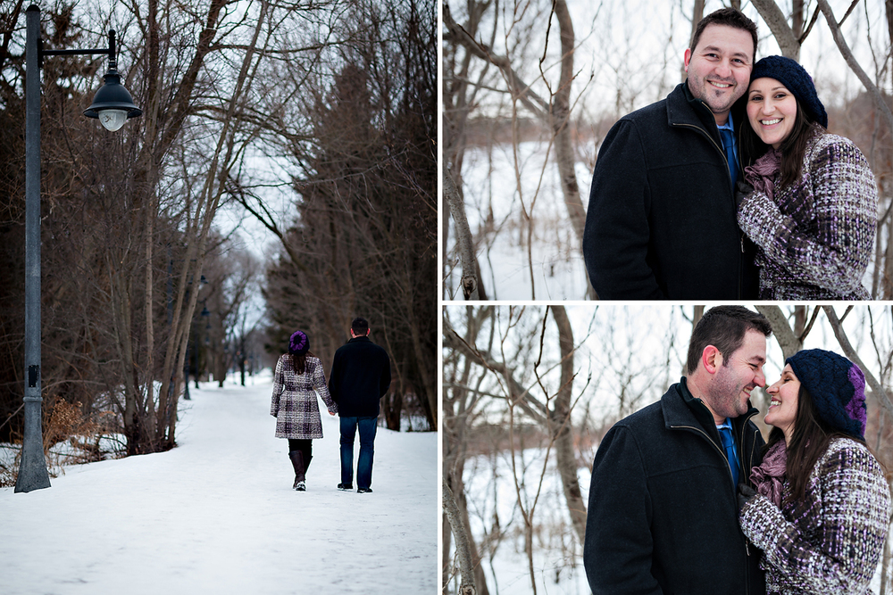 Toronto Winter Engagement Photography Collage